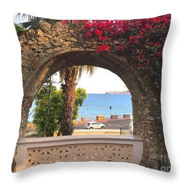 Ancient Arch Gaeta Italy Throw Pillow