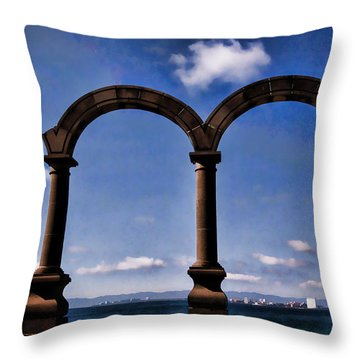 Ancient Arches Throw Pillow