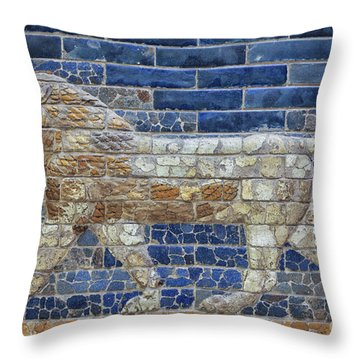 Ancient Babylon Lion Throw Pillow