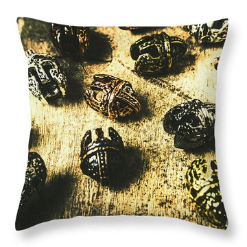 Ancient Battlefield Armour Throw Pillow