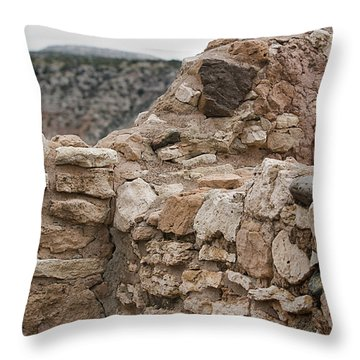 Throw Pillow featuring the photograph Ancient Buildings by Phyllis Denton