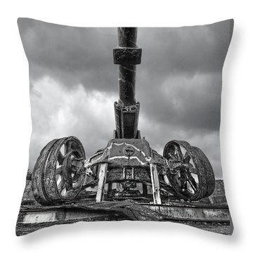 Ancient Cannon In Black And White Throw Pillow