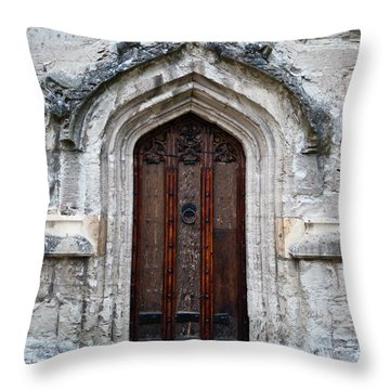 Ancient Door Throw Pillow by Douglas Barnett