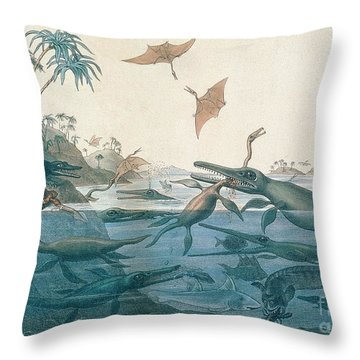 Ancient Dorset Throw Pillow by Henry Thomas De La Beche