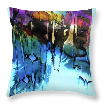 Throw Pillow featuring the painting Ancient Echoes by Mary Sullivan