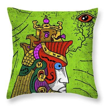 Throw Pillow featuring the digital art Ancient Egypt Pharaoh by Sotuland Art