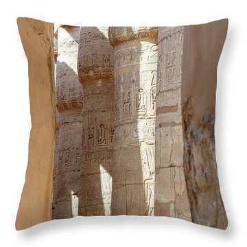 Throw Pillow featuring the photograph Ancient Egypt by Silvia Bruno