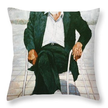Throw Pillow featuring the painting Ancient Greek by Charles Munn