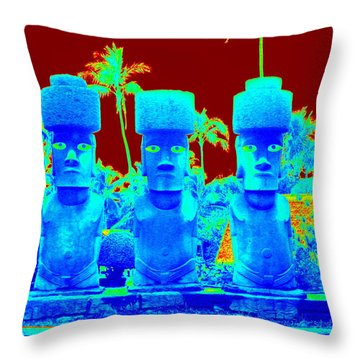 Ancient Idols Throw Pillow