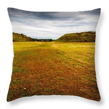 Ancient Indian Burial Ground  Throw Pillow