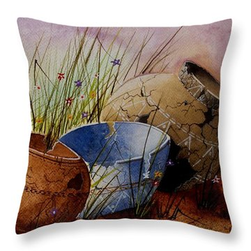 Ancient Relics A Paint Along With Jerry Yarnell' Study. Throw Pillow by Jimmy Smith