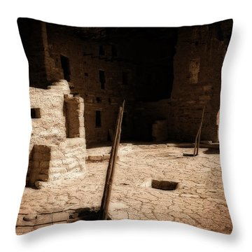 Throw Pillow featuring the photograph Ancient Sanctuary by Kurt Van Wagner