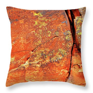 Throw Pillow featuring the photograph Ancient Scribeing by Howard Bagley