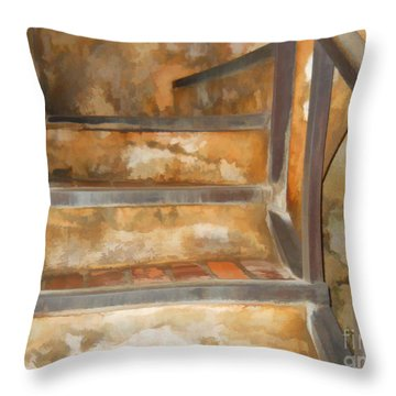 Ancient Stairway Throw Pillow