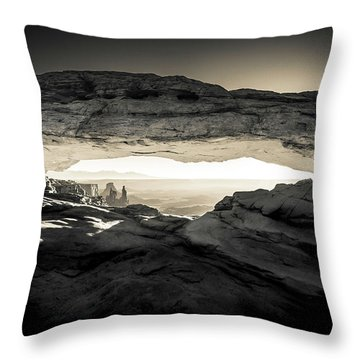 Ancient View Throw Pillow by Kristal Kraft
