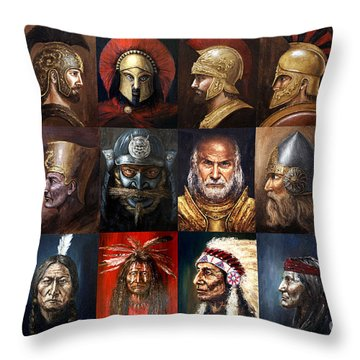 Ancient Warriors Throw Pillow by Arturas Slapsys