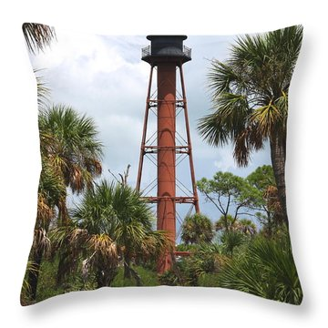 Anclote Key Lighthouse Throw Pillow