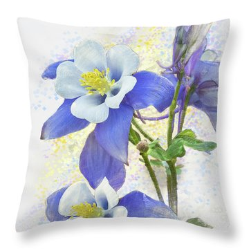Ancolie Throw Pillow