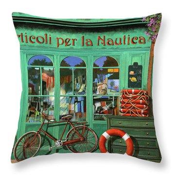 Ancora Una Bicicletta Rossa Throw Pillow