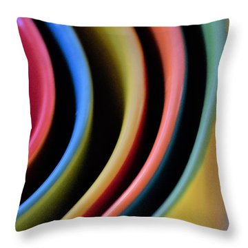 And A Dash Of Color Throw Pillow by John Glass