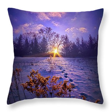 Throw Pillow featuring the photograph And Back Again by Phil Koch