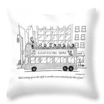 And Coming Up On The Right Throw Pillow