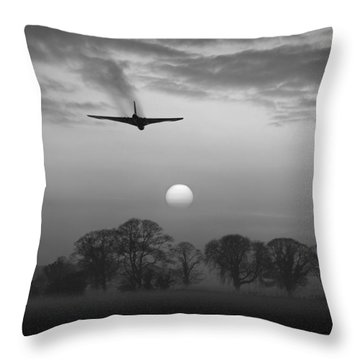 And Finally Black And White Version Throw Pillow
