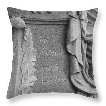 And Flights Of Angels Sing Thee Throw Pillow