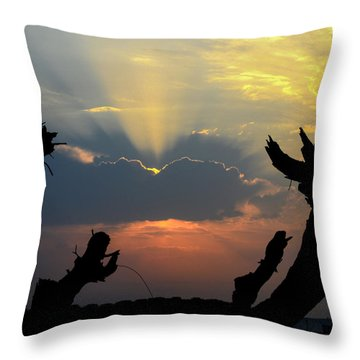 And God Said, Let There Be Light Throw Pillow