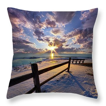 Throw Pillow featuring the photograph And I Will Give You Rest. by Phil Koch