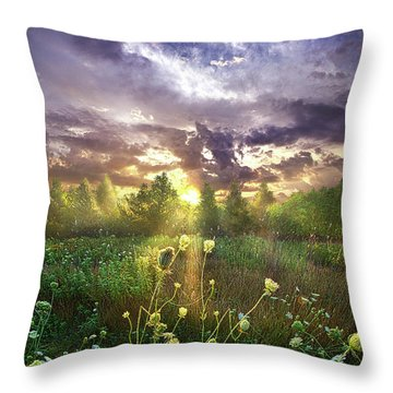 And In The Naked Light I Saw Throw Pillow