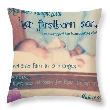 And It Came To Pass In Those Days, That Throw Pillow