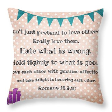 And So, Dear Brothers And Sisters, I Throw Pillow