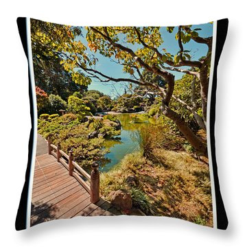 And So In This Moment With Sunlight Above Throw Pillow by Jim Fitzpatrick