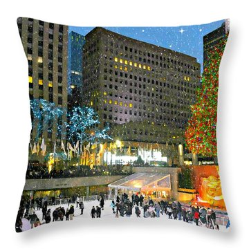 And So This Is Christmas Throw Pillow