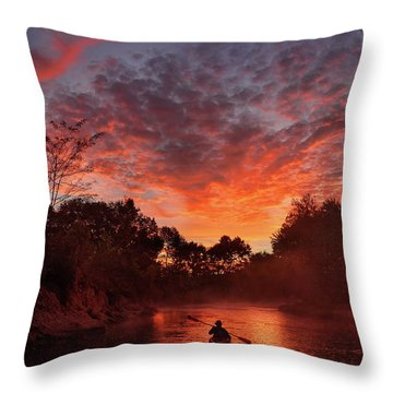 And The Day Begins Throw Pillow by Robert Charity