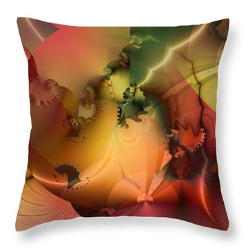 Throw Pillow featuring the digital art And The Floodgates Of Heaven Were Opened by Richard Ortolano