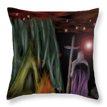 And The Fourth Angel Sounded Throw Pillow