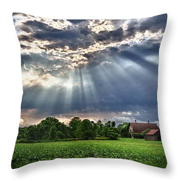 And The Heavens Opened 1 Throw Pillow