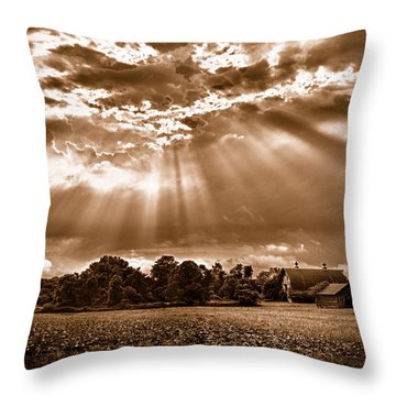 And The Heavens Opened 3 Throw Pillow