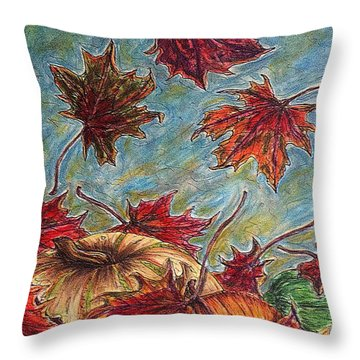 And The Leaves Came Tumbling Down Throw Pillow