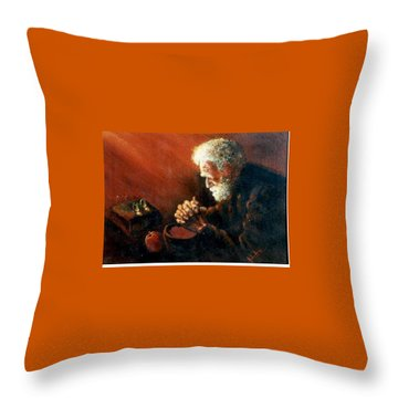 And The Old Man Prayed Throw Pillow