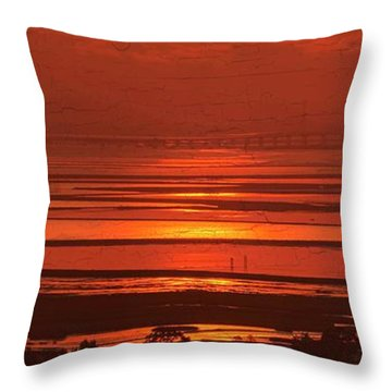 Throw Pillow featuring the photograph And The Sea May Look Warm To You Babe by Peter Thoeny