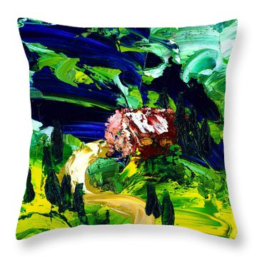 And The Sun Danced Through Throw Pillow
