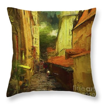 And Then It Rained Throw Pillow