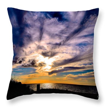 And Then There Was God Throw Pillow by Margie Amberge