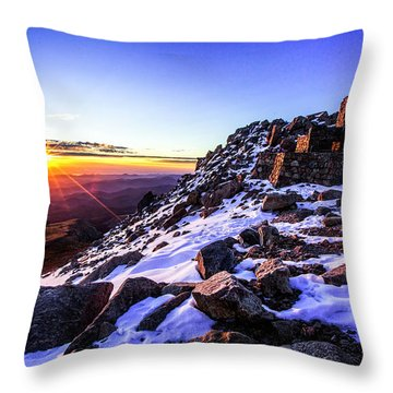 And Then There Was Light Throw Pillow by Kristal Kraft