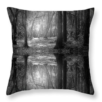 And There Is Light In This Dark Forest Throw Pillow