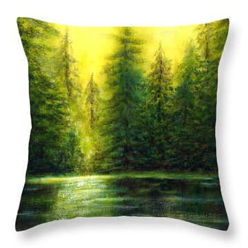 ...and There Was Morning Throw Pillow