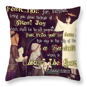 And There Were In The Same Country Throw Pillow